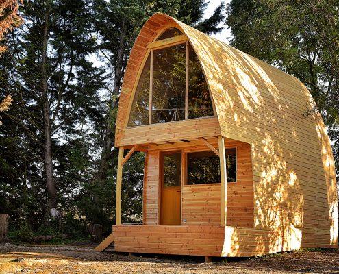 cabane bois ronde