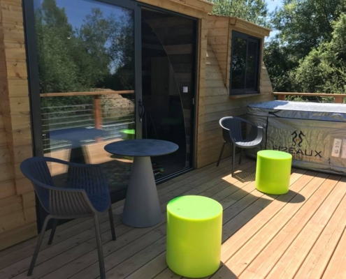 terrasse extension maison ossature bois