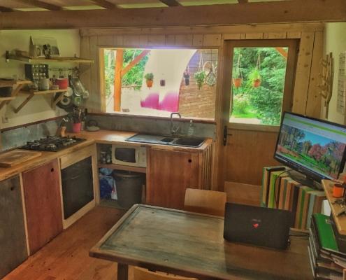 extension maison bois intérieur