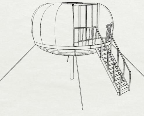 extension cabane bois