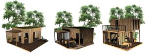 modèles de cabanes Urbaines Ecobane