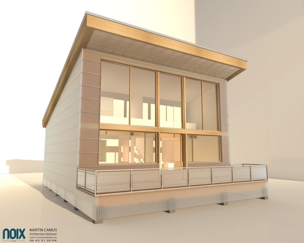 Cabane d'architecte, maison écologique en bois