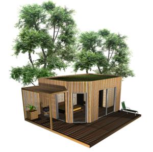 Cabane de jardin, extension de maison ou annexe