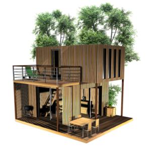 Cabane de jardin, dépendance de maison en duplex