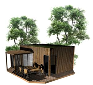 Cabane de jardin, studio en bois confortable