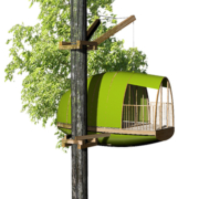 Cabane dans une arbre par Ecobane