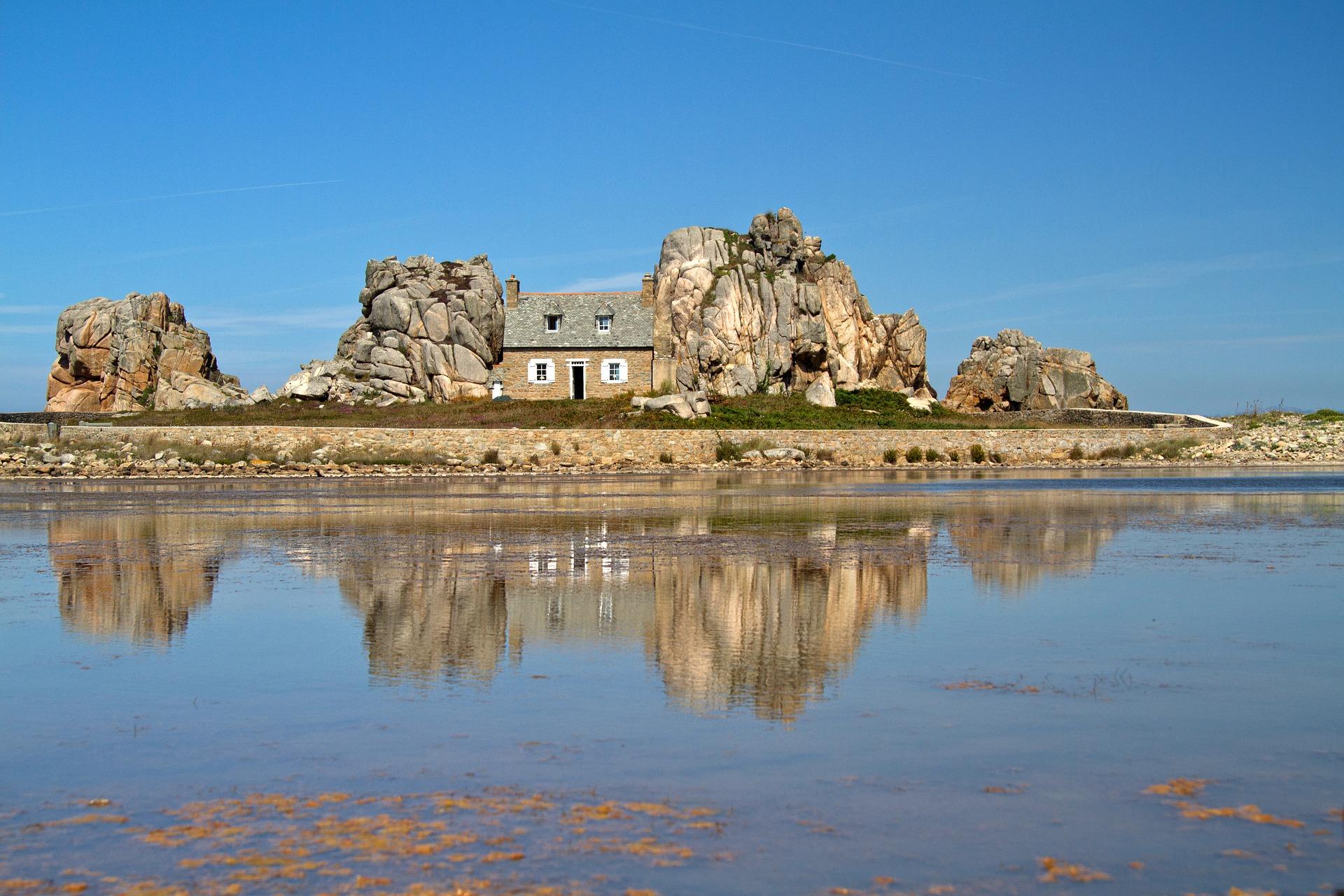 Maison sur la côte bretonneA