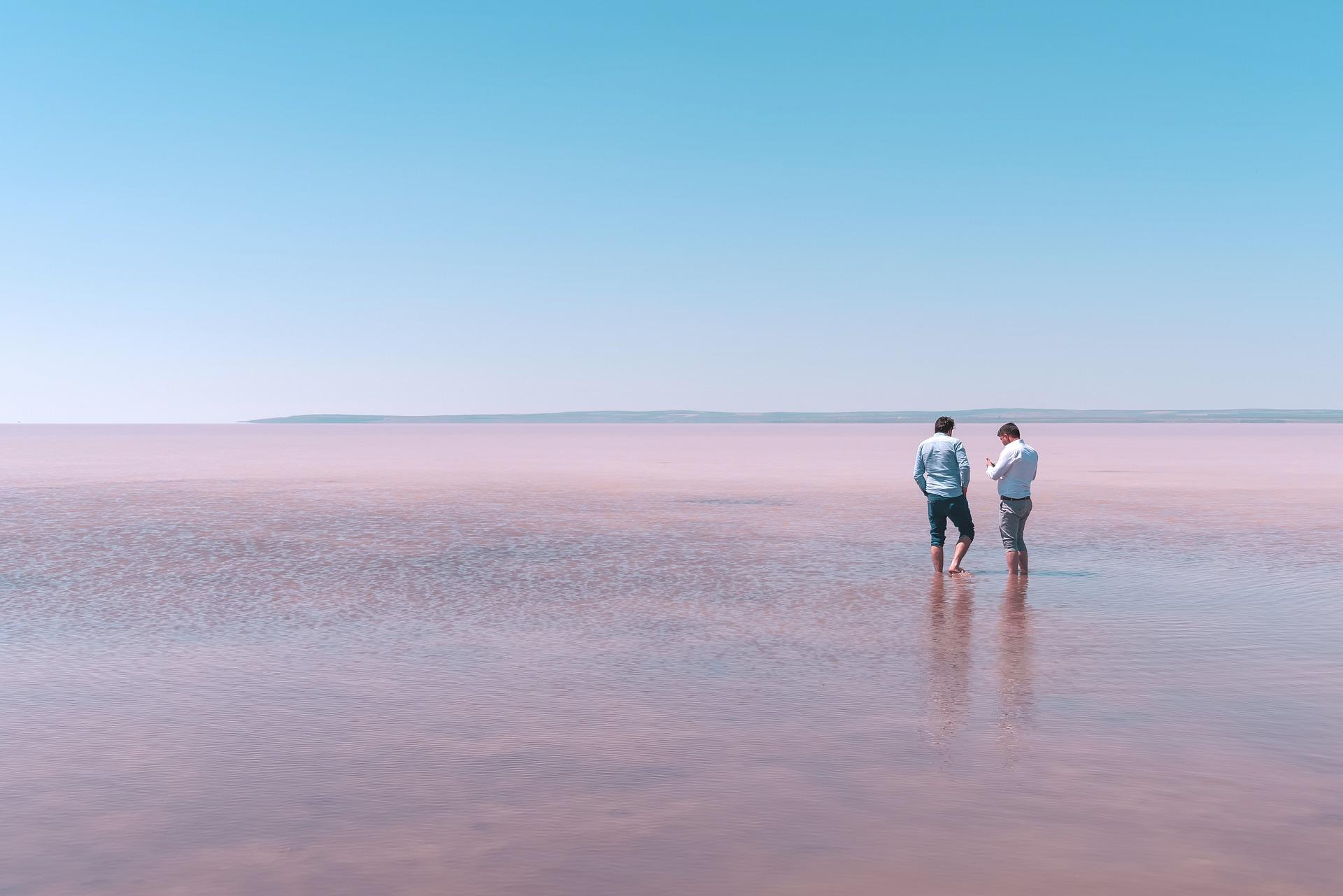 Lac rose en Australie