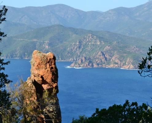 vue sur la mer, à Piana en Corse