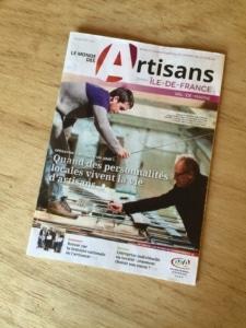 """Ecobane, à la une du mgazine """"Le Monde des artisans"""""""