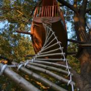 échelle pour accéder à une cabane