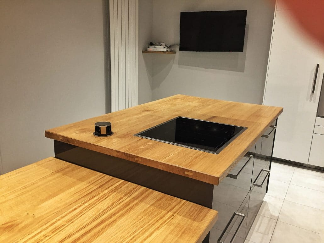 Bar de cuisine en bois sur mesure