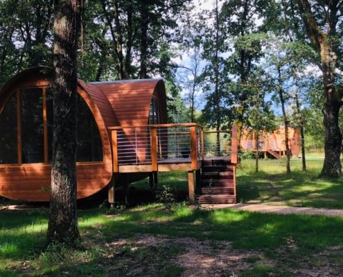 Cabanes en bois ecobane, inspiration du modèle beebane