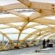 Construction en bois : poutres en lamellé collé