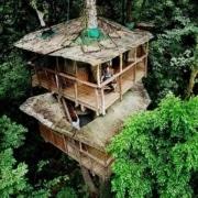 Cabane dans les arbres au Costa Rica